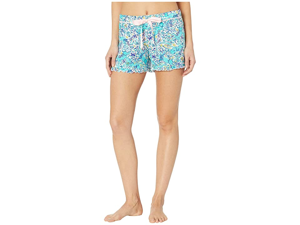 Lilly Pulitzer Ruffle PJ Knit Shorts (Melon Fig Tint Monkey Sea) Women