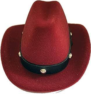 Sheep Dreams Cowboy Hat Shaped Ring Box, Engagement Ring Box, Sombrero Caja por Anillo de Compromiso (Burgundy)