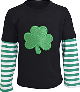 Unisex Layered St Patricks Day Clover Boys Shirt