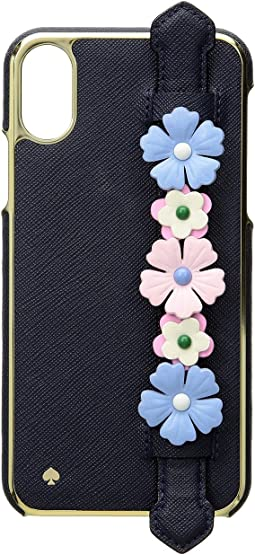 Floral Hand Strap Stand Phone Case for iPhone® X