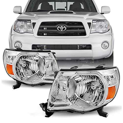 For 05-11 Toyota Tacoma Pickup Truck Headlights Front Lamp Direct Replacement Pair Left +