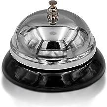 Hotel Hotel Bar Escritorio Campana de Acero AKAMAS Campanilla para Comida Llamada Campanilla de Servicio para la Cocina Restaurante Servicio de Conserje Uso cl/ásico