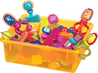 B. Battat Bristle Block Spinaroos Building Toy Blocks for Toddlers, 75 pieces