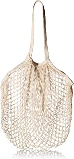 Organic Cotton Net Market Bag, Reusable Shopping Tote, Grocery, Beach, Storage, Fruit, and Vegetable Mesh Produce Bag