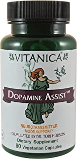 Vitanica Dopamine Assist, Neurotransmitter Mood Support, Vegan, 60 Capsules