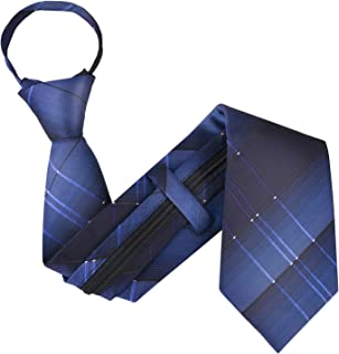 Zipper Tie,Formal Necktie Classic Tie Adjustable Business Tie with Box for Men
