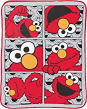 بطانية من Jay Franco Sesame Street Hip Elmo - مقاس 101.6 × 127 سم، سرير أطفال - صوف فائق النعومة مقاوم للبهتان - (منتج Ses...