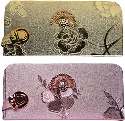 Fiona Trends Printed Party Wear Beautiful Flower Combo clutch for Women