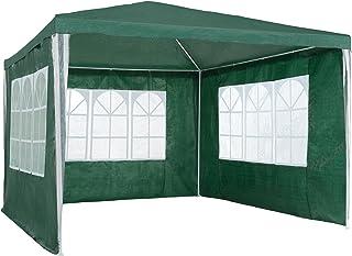 TecTake 800105 - Carpa 3x3 m con 3 Paneles Laterales, Montaje rápido, Plegado ocupa Poco Espacio (Verde | no. 401512)