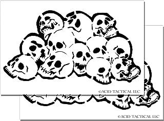 Acid Tactical Skull Pile DIY aerógrafo pintura pintura plantillas RC Modelo Pistola Calaveras Set 2 Pack