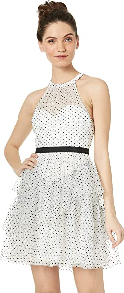 Short Polka Dot Ruffle Dress