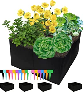 Sponsored Ad - VINTEX Plant Grow Bag, 2 X 2 Durable 4 Grids 4 Pack Square Raised Garden Bed Breathable Planting Containers...