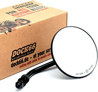 Custom Spiegel rund 4' schwarz mit E Zulassung, für Harley Davidson®