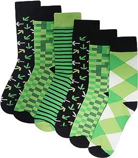 Calcetines Pixel de algodón para hombre o niño, paquete de 6