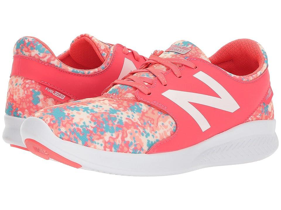 New Balance Kids KJCSTv3Y (Little Kid/Big Kid) (Vivid Coral/Ozone Blue) Girls Shoes