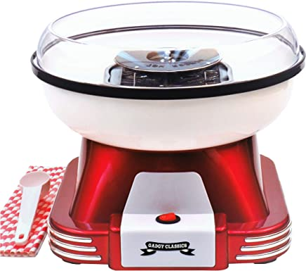 Gadgy ® Maquina de Algodon de Azucar | Retro Cotton Candy Machine | Usar Azúcar Regular