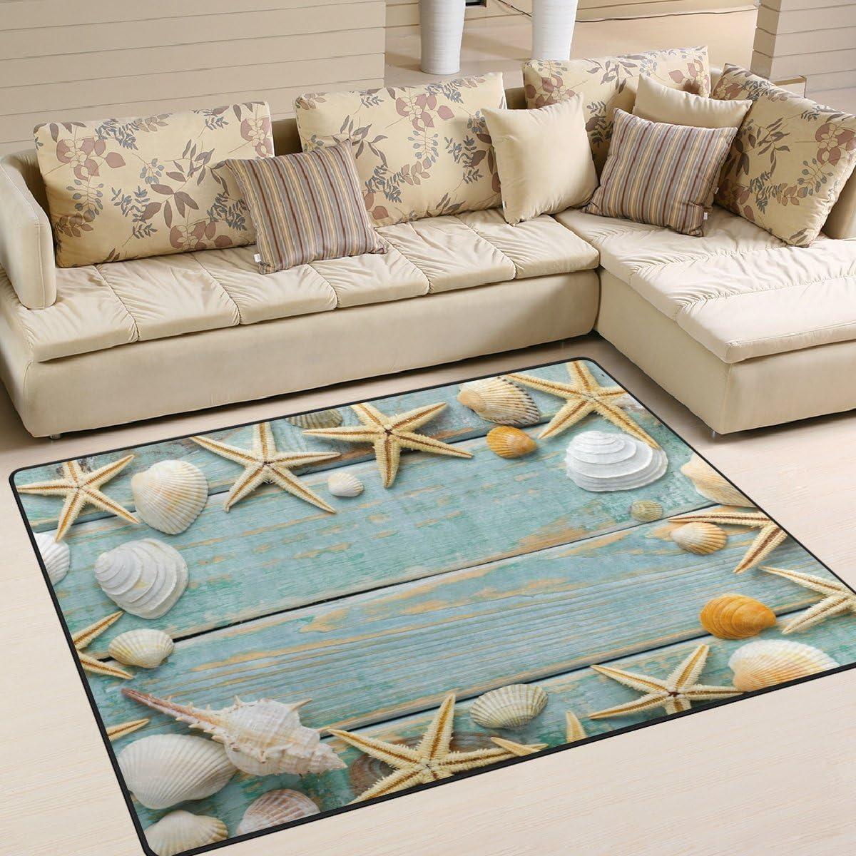 Cooper Girl Tropical 年中無休 Beach Seashell Rug Mat Carpet [再販ご予約限定送料無料] Area 6'8