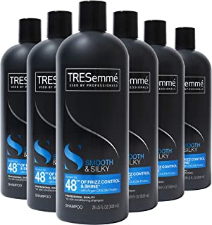 TRESemmé Touchable Softness Anti Frizz Shampoo for Shiny Hair Smooth and Silky, Moroccan Argan Oil Dry Hair Shampoo Formula 28 oz, Pack of 6