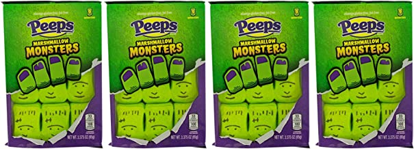 Halloween Peeps Candy Bundle - 4 Pack of Marshmallow Peep's - Perfect Halloween Candy, Fall Candy, Trick Or Treat Candy - Monsters - 13.5 Ounces