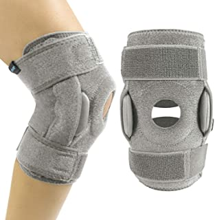 Best Vive Hinged Knee Brace - Open Patella Support Wrap for Women, Men - Compression for ACL, MCL, Torn Meniscus Ligament and Tendonitis - for Running, Athletic Tear and Arthritis Joint - Adjustable Strap Review