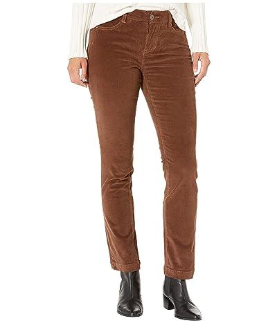 Jag Jeans Petite Petite Ruby Straight Corduroy Jeans (Walnut) Women