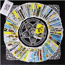 Tarot Card Deck, Tarocchi Tarotology Universal Waite Tarot Divination, A Divining Tablecloth with A Spirit Pendulum , 3PCS