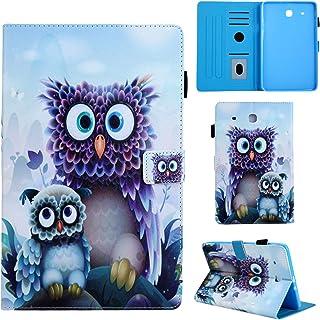 166ca8473f1 YKTO Fundas Bonita Protege Tablet Samsung Galaxy Tab E T560 2015 PU Cuero  Billetera Flip Soporte