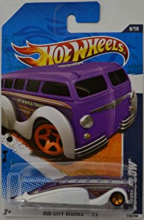 Hot Wheels Compatible Low Flow White/Purple HW City Works '11 Series 1:64 Scale Collectible Die Cast Model Car