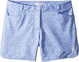 adidas Golf Kids Print Shorts (Big Kids)