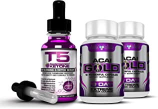 Pure Raspberry Ketone Liquid Acai Berry Gold Complete Detox Colon Cleanse Weight Loss Slimming Bundle Maximum Strength 1 Month Supply Estimated Price : £ 15,49