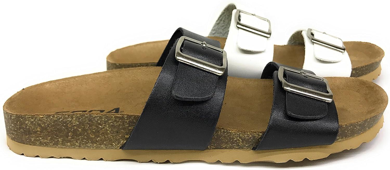 kvinnor Dunya Double Strap Strap Strap Buckle Slip on Sandals  gratis frakt!