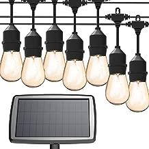 MagicPro Solar String Lights, 15 LED Light Bulbs Solar String Light Waterproof Heavy Duty Outdoor Solar Lights 44 Ft for Garden Yard Deck Warm White