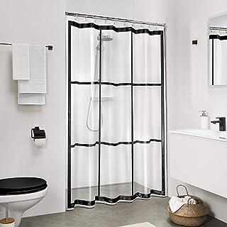 Sealskin Brix Shower Curtain PEVA 180x200 cm Transparent / Black
