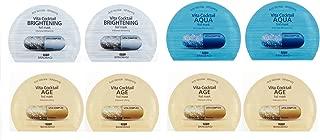 BANOBAGI Mask: New Version (BNBG)Vita Cocktail Brightening Foil Face Mask Anti Aging Whitening(Silver) + Age Intensive Lifting Mask(Gold) + Aqua Moisturizing Masks (Blue) in FACIAL-MASK Packaging