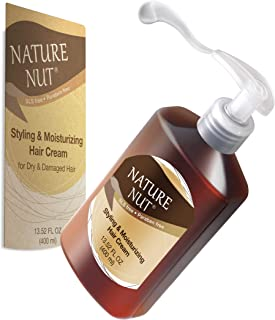 Leave In Conditioner for Dry and Damaged Hair - 5 Nut Oil Curl Defining Styling Cream Hair Moisturizer Repair Treatment for Wavy Curly Hair
