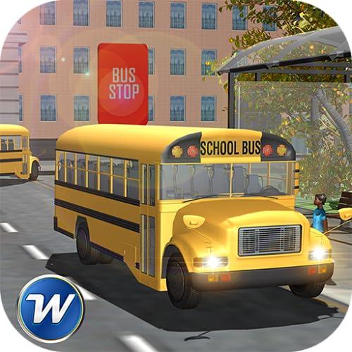 High School Bus Fahren Winterspaß