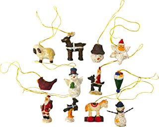GIFTCO 3039 Holiday Fun Polystone Ornaments - Set Of 12