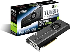 ASUS GeForce GTX 1070 TI 8GB GDDR5 Turbo Edition VR Ready DP HDMI DVI-D Graphics Card (TURBO-GTX1070TI-8G)