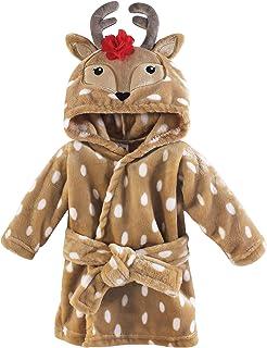 Hudson Baby Unisex Baby Plush Animal Face Robe, Girl...