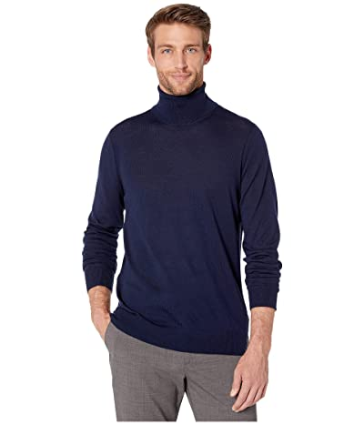 Michael Kors Merino Turtleneck (Midnight) Men