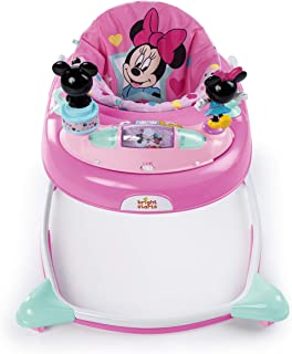 Minnie Mouse Stars and Smiles Baby Girl Folded Walker with Wheels Activity, Entertainment, and Learning Center, Adjustable...