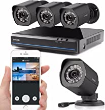 Zmodo 4-Channel HDMI NVR Security System with 4 x 720p HD IP Home Surveillance Indoor/Outdoor Wired Camera, No HDD