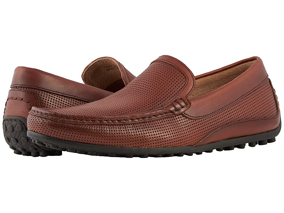Florsheim Oval Perf Driver (Cognac Smooth) Men
