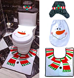 Miraculous Bathroom Accessories Blue Snowman Christmas Toilet Set Cjindustries Chair Design For Home Cjindustriesco