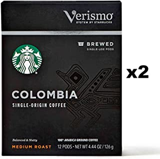 Starbucks Colombia Brewed Coffee Verismo Pods (24 Count)