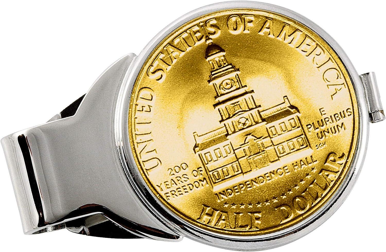 Gold-Layered JFK Award-winning store Denver Mall Bicentennial Half Clip Money Silvertone Dollar