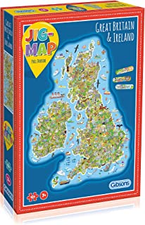 Jigmap - Great Britain & Ireland jigsaw   Perfect Gift for Kids   Premium Board   Bright, colourful & fun puzzle for boys...