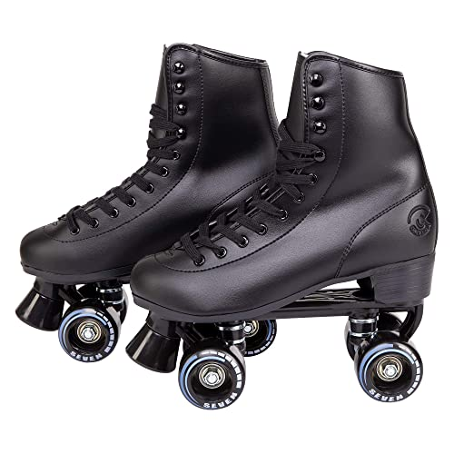C7 Classic Roller Skates | Retro Soft Boot with Faux Leather | Speedy Quad Style for