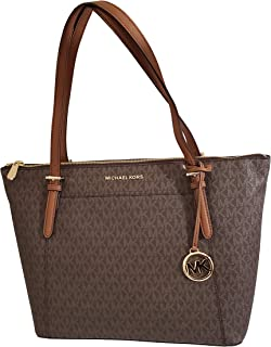 Michael Kors Ciara Brown Acorn Large Top Zip Tote Bag - 35F8GC6T7B