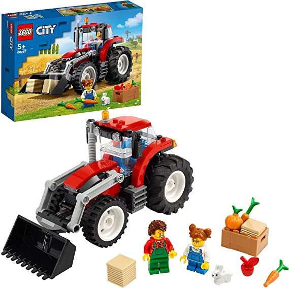 LEGO60287CityTractorSetdeGranjaconFiguradeConejo,JuguetedeConstrucciónparaNiñosyNiñasaPartirde5A&ntild